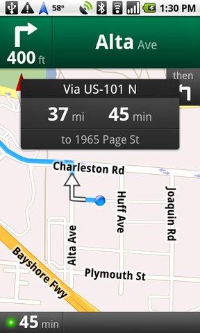 google navigation android app