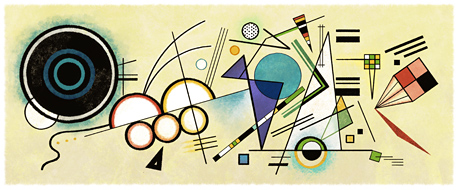 Wassily Kandinsky's 146th Birthday. Courtesy of the Estate of Wassily Kandinsky / ARS.